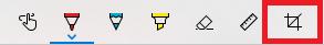 スケッチ画面の右端のトリミングアイコン