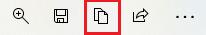 保存メニューの左から3番目の「コピー」アイコンを選択