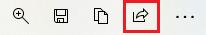保存メニューの左から4番目の「共有」アイコンを選択